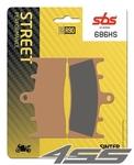Predné brzdové platničky SBS 686HS Sinter (Cesta)